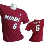 Camiseta Miami Heat  Lebron James