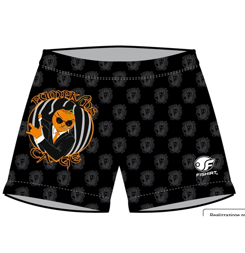 Men's Swimming Trunk with Texture Logo - PumpKins Cage
