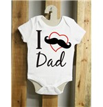 Body de bebê I love Dad