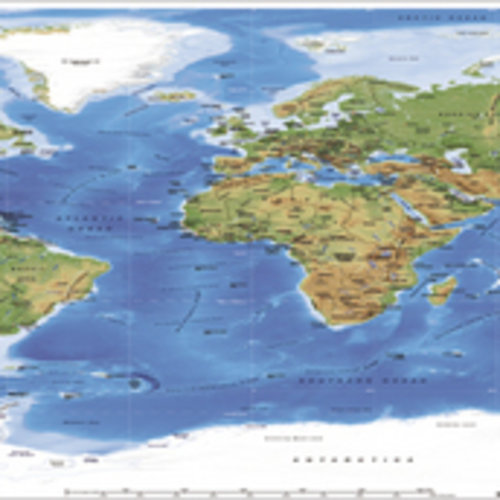 Poster World map 127075
