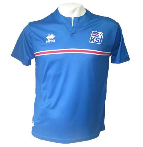 Camisa Errea Islândia Home 2017