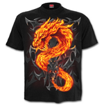 Camiseta Fire Dragon - Camiseta Preta