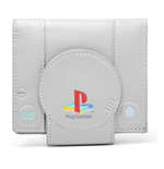 "Carteira ""SONY PlayStation One Console"" formato Bi-Fold Wallet - cor Cinza"
