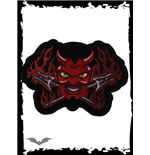 Logo Queen of Darkness Flaming Devil with Tridents