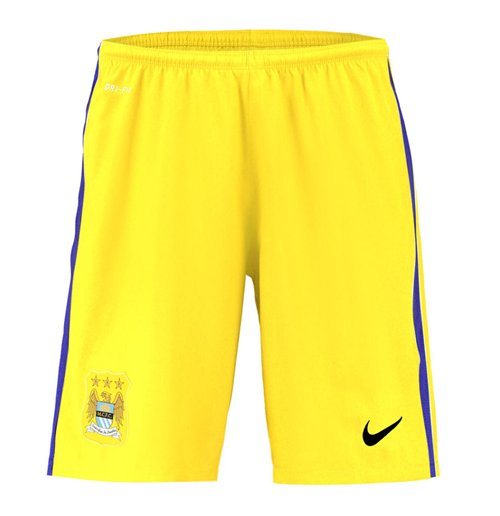 Shorts Manchester City FC 2015-2016 Away (Amarelo)