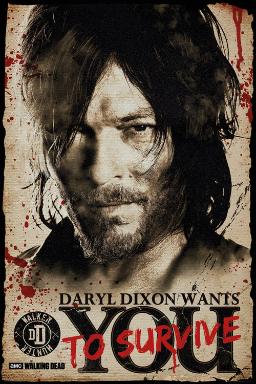 Póster The Walking Dead Daryl Needs You