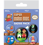 Super Mario Bros. Pack 5 Chapas