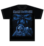 Camiseta Iron Maiden Final Frontier Blue Album Spaceman