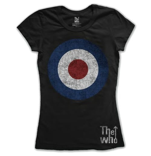 Camiseta The Who de mulher Target Distressed