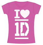 Camiseta One Direction de mulher - Design: I Love