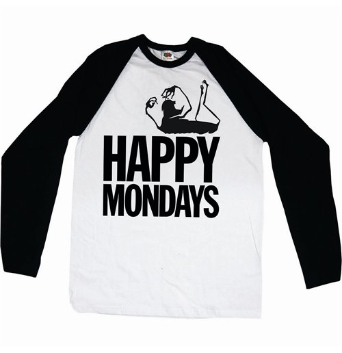 Camiseta manga longa Happy Mondays de homem - Design: Logo