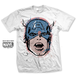 Camiseta Capitão América Capt. America Big Head Distressed