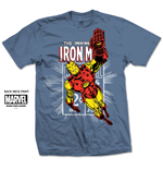 Camiseta Iron Man de homem - Design: Iron Man Stamp