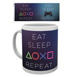 Caneca PlayStation - Eat Sleep Repeat