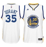 Camiseta Golden State Warriors Kevin Durant adidas New Swingman Home Branco