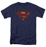 Camiseta Superman Cracked Logo
