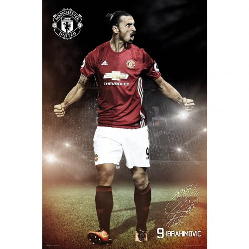 Póster Manchester United FC Ibrahimovic 22