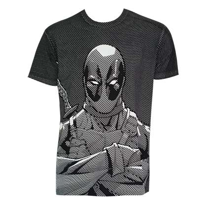 Camiseta Deadpool Halftone Stripe