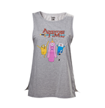 Camiseta de suspensório Hora de aventuras Finn, Jake and Princess Bubblegum