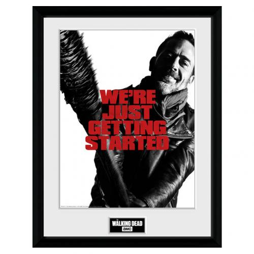 Póster Moldurado The Walking Dead Negan 40 x 30 cm