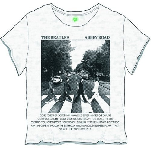 Camiseta Beatles de mulher - Design: Abbey Road Songs