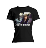 Camiseta Justin Bieber de mulher - Design: Photo Black