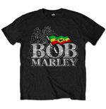 Camiseta Bob Marley Distressed Logo