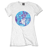 Camiseta 5 seconds of summer de mulher - Design: Tie-Dye Scribble Logo