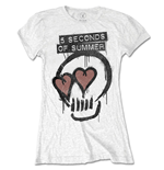 Camiseta 5 seconds of summer de mulher - Design: Heart Skull