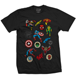 Camiseta Marvel Superheroes de homem - Design: Random Badges