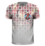 Camiseta The Avengers Icons Pattern Pocket Logo