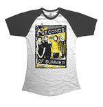 Camiseta 5 seconds of summer de mulher - Design: Splatter