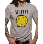 Nirvana - Smiley Splat - Camiseta Unisex Cinza