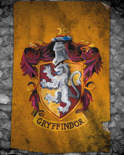 Póster Harry Potter Gryffindor Flag
