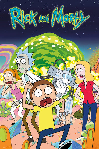 Póster Rick and Morty Group