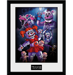 Póster Moldurado Five Nights at Freddy's - Sister Location Group - 30x40 Cm