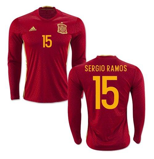 d549ca9e80ae2 Compra Camiseta Manga Longa Espanha Home 2016 17 (Sergio Ramos 15)