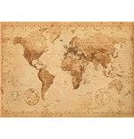 Poster World map 257916
