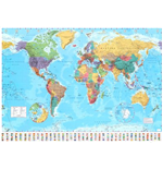 Póster World map - 2015 - 100x140 Cm