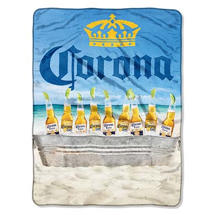 Toalha/Manta Corona EXTRA Plush Throw Beach Scene