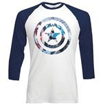 Camiseta Marvel Superheroes de homem - Design: Captain America Shield Block