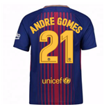Camiseta FC Barcelona 2017-2018 Home (Andre Gomes 21)