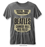 Camiseta The Beatles Carnegie Hall with Burn Out Finishing