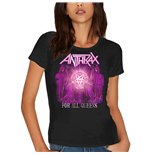 Camiseta Anthrax de mulher - Design: For All Queens