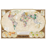 Poster World map 272372