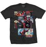 Camiseta Marvel Superheroes de homem - Design: Deadpool Strips