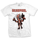 Camiseta Marvel Super heróis Deadpool Cartoon Bullet