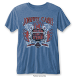 Camiseta Johnny Cash de homem - Design: Ring of Fire