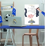 Vinil decorativo para parede Real Madrid 274258
