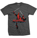 Camiseta Marvel Superheroes de homem - Design: Deadpool Logo Jump